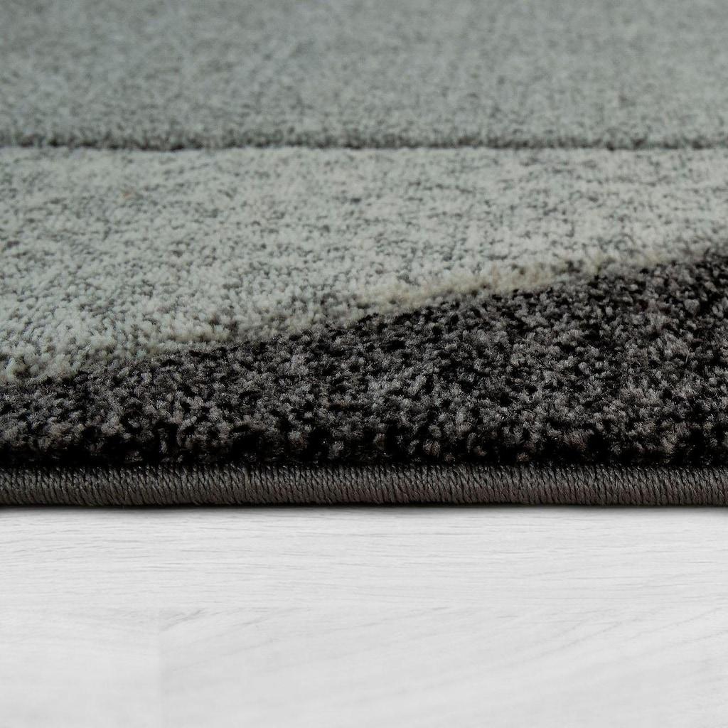 Paco Home Teppich »Diamond 675«, rechteckig, 18 mm Höhe, Kurzflor mit 3D-Muster und Bordüre, Wohnzimmer