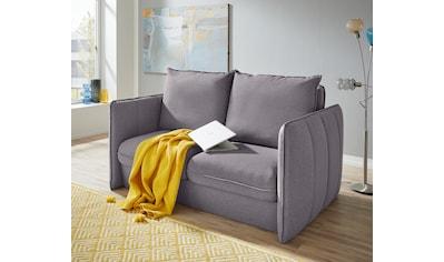 INOSIGN Polstergarnitur »Tiny Mike«, (3 tlg.), Verwandlungsofa: 2 Hocker im Sofa integriert, können separat gestellt werden, mit Keder und feiner Steppung, Sitzbreite 140 cm kaufen