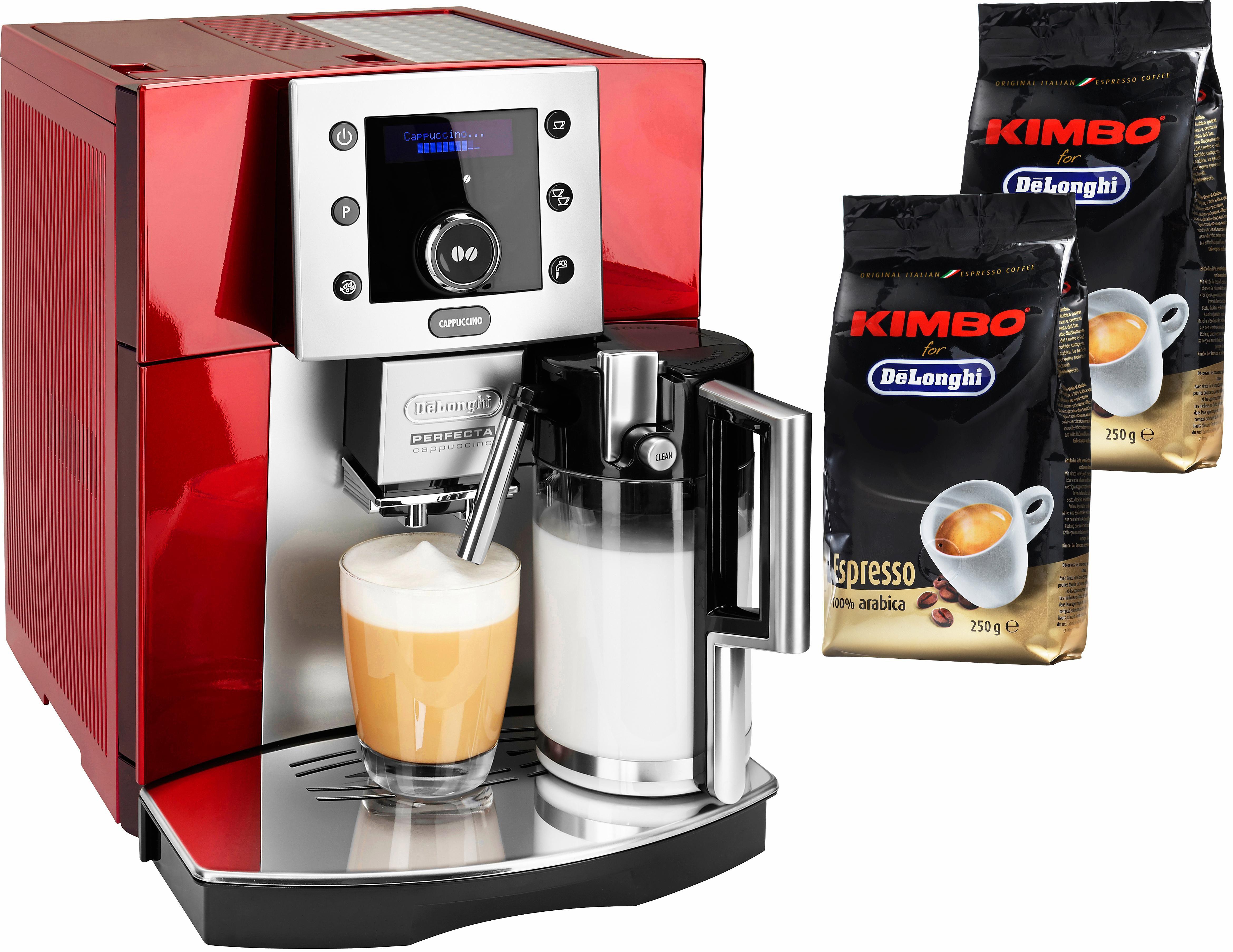De´Longhi Kaffeevollautomat Perfecta ESAM 5550.R, 1,7l Tank, Kegelmahlwerk | Küche und Esszimmer > Kaffee und Tee > Kaffeevollautomaten | Rot | DELONGHI
