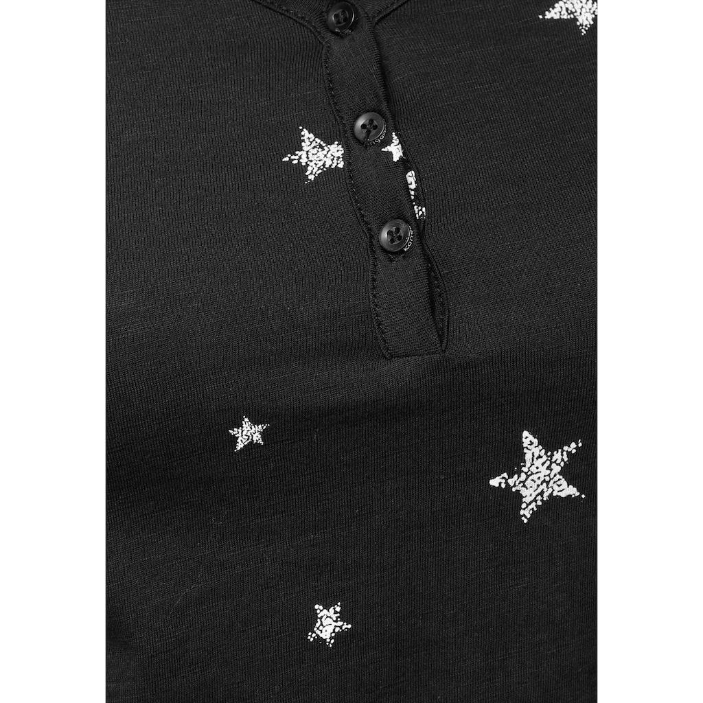 KangaROOS Langarmshirt, mit Allover-Print