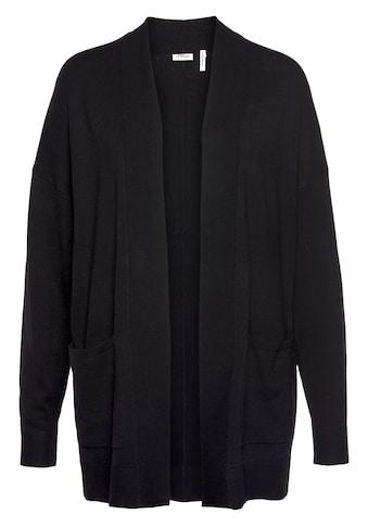 s.Oliver BLACK LABEL Longstrickjacke, mit aufgesetzten Taschen kaufen