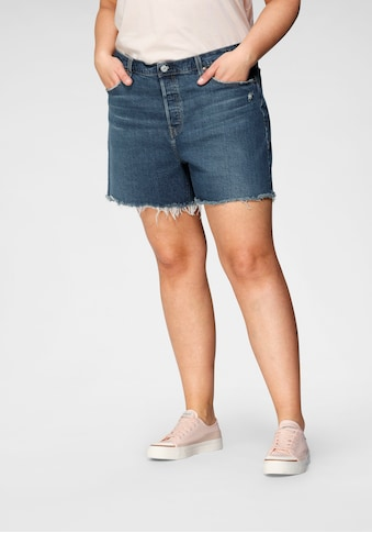 Levi's® Plus Destroyed-Jeans »501 Original Short«, mit ausgefranstem Saum kaufen