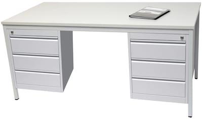 SZAGATO Schreibtisch Stahlrahmen, inkl. 2 Unterbauschränken kaufen