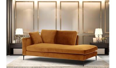 Leonique Recamiere »Cozy«, mit losen Kissen und Metallbeinen, Armlehne links oder rechts wählbar kaufen