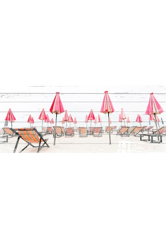 QUEENCE Holzbild »Liegestühle am Strand«, 40x80 cm Echtholz kaufen
