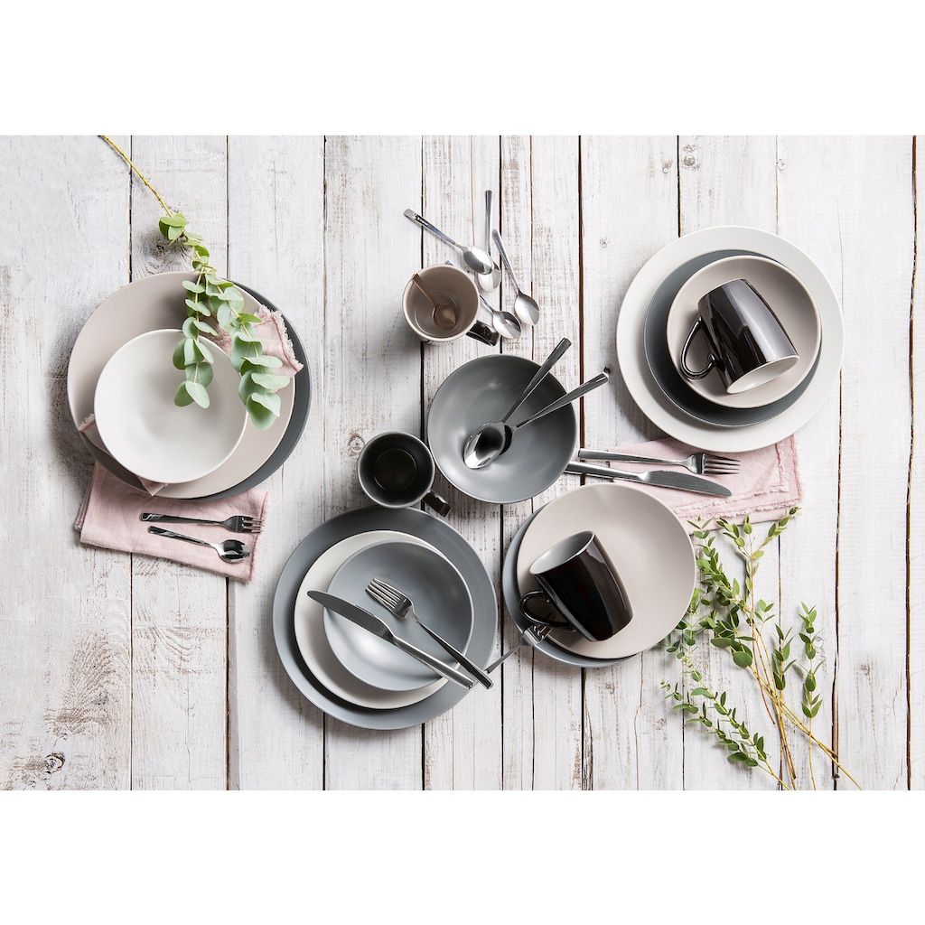 CreaTable Kombiservice »Very Cool«, (Set, 16 tlg.), coole Farben