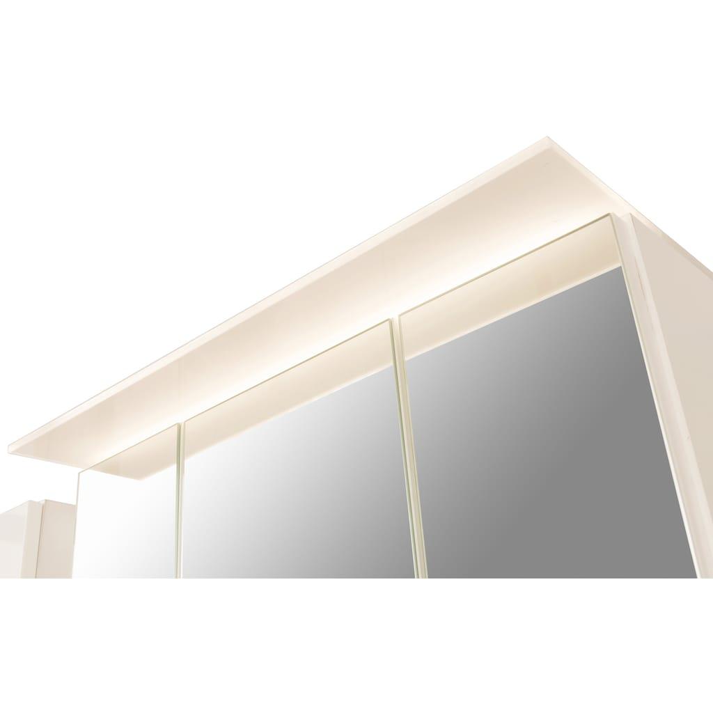 HELD MÖBEL Spiegelschrank »Treviso«, Breite 80 cm, mit LED Beleuchtung und Softclose-Funktion
