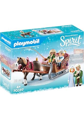 Playmobil® Konstruktions-Spielset »Winterliche Schlittenfahrt (70397), Spirit Riding... kaufen