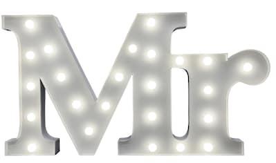 MARQUEE LIGHTS LED Dekolicht »Mr Schriftzug«, 1 St., Warmweiß, Wandlampe, Tischlampe Mr mit 24 festverbauten LEDs - 57cm Breit und 31cm hoch kaufen