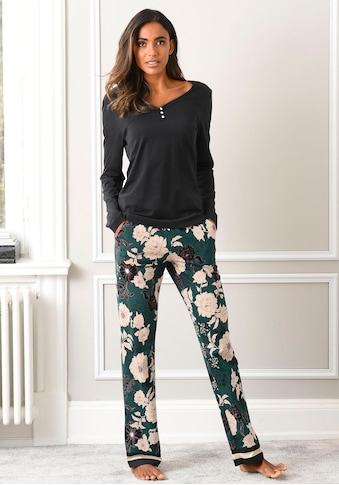 s.Oliver Pyjama, mit geblümter Schlafhose kaufen