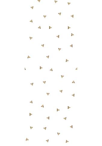 QUEENCE Vinyltapete »Dreiecke - Gold«, 90 x 250 cm, selbstklebend kaufen