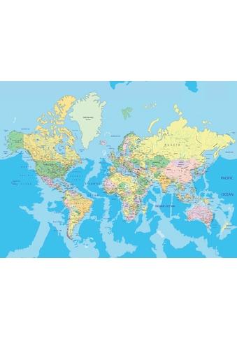 PAPERMOON Fototapete »World Map«, Vlies, in verschiedenen Größen kaufen