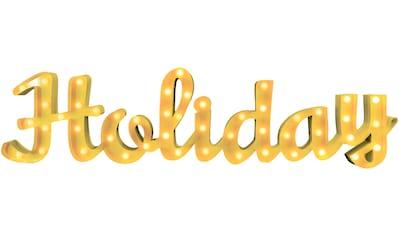 MARQUEE LIGHTS LED Dekolicht »Holiday Schriftzug«, 1 St., Warmweiß, Wandlampe, Tischlampe Holiday mit 48 festverbauten LEDs - 149cm Breit und 38cm hoch kaufen