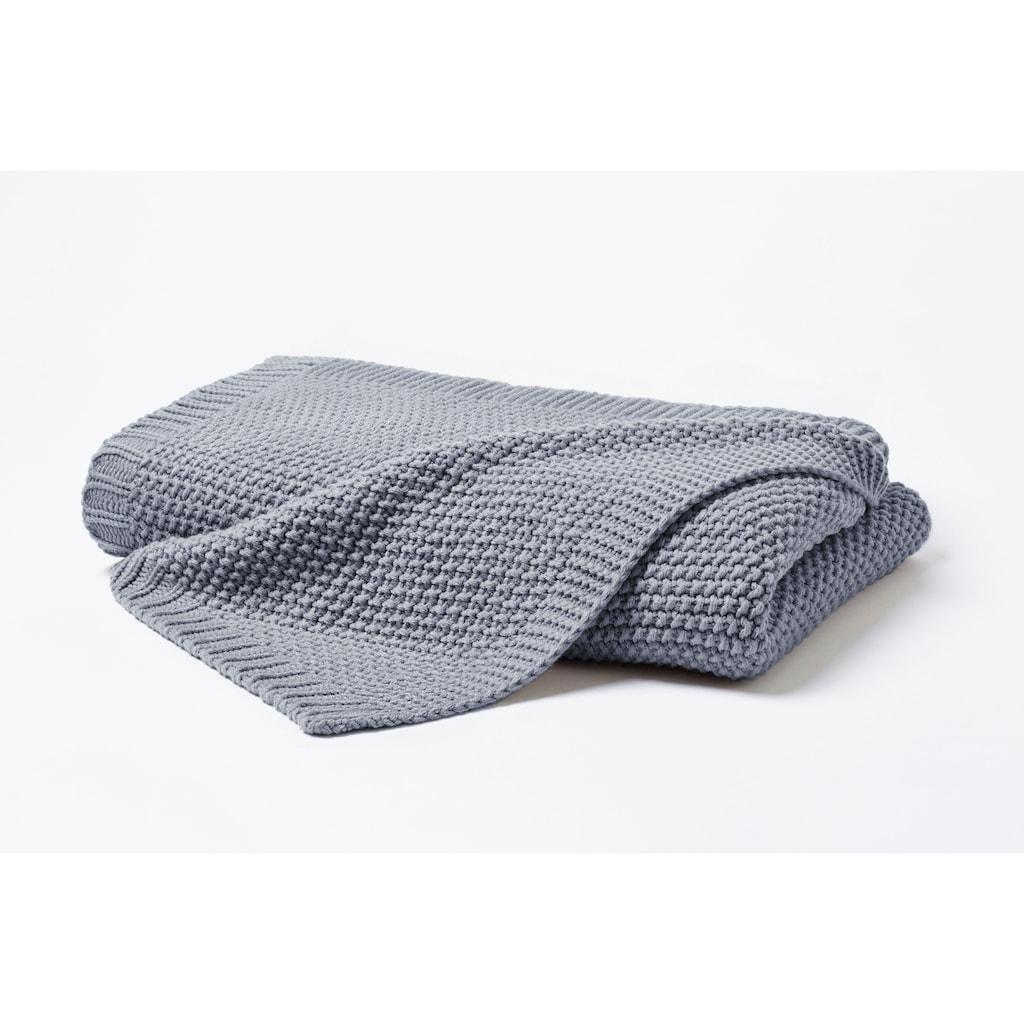 Primera Wohndecke »Strick«, in schlichten Unifarben