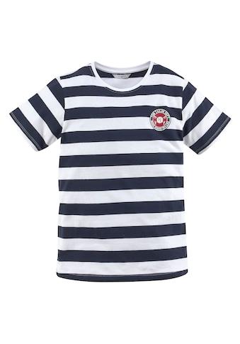 TOM TAILOR Polo Team T-Shirt »mit maritimen Streifen« kaufen