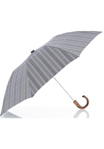 doppler MANUFAKTUR Taschenregenschirm »Rancher Orion, karo grau«, handgemachter Manufaktur-Taschenschirm kaufen
