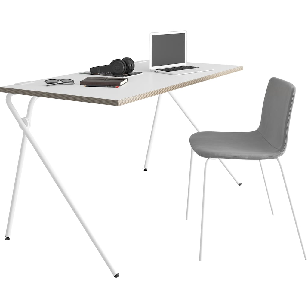 Müller SMALL LIVING Sekretär »PLATO Two«, weißes Gestell, Home Office minimal, einfach zusammenklappen, fertig