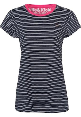 Alife & Kickin T-Shirt »MaxiAK B«, maritimes Streifenshirt mit Kontrast-Bündchen kaufen