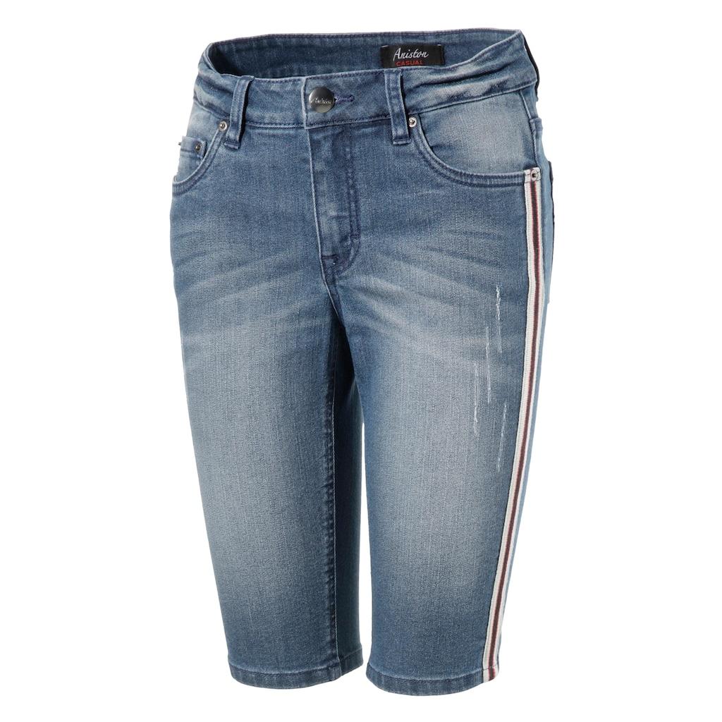 Aniston CASUAL Jeansbermudas, mit Galonstreifen
