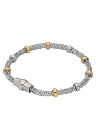 Firetti Armband »Schlauchkettengliederung, 4,3 mm breit, glänzend, Tricolor - Optik« kaufen
