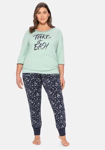Sheego Pyjama, als 3/4-Arm-Shirt mit langer Hose kaufen