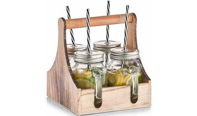 Zeller Present Gläser-Set, (Set, 5 tlg.), Mit praktischer Holzkiste zum Tragen kaufen