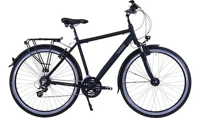 HAWK Bikes Trekkingrad »HAWK Trekking Gent Premium Black«, 24 Gang Shimano Altus Schaltwerk kaufen
