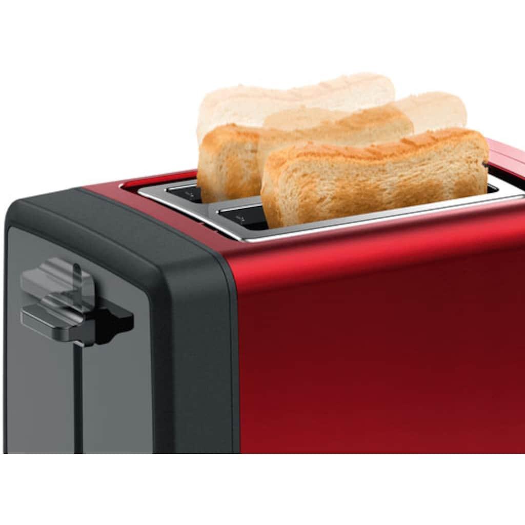BOSCH Toaster »TAT4P424 DesignLine«, 2 kurze Schlitze, 970 W