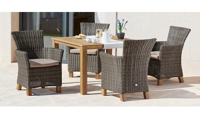 MERXX Gartenmöbelset »Toskana«, (9 tlg.), 4 Sessel, Tisch 110x110x75 cm,... kaufen