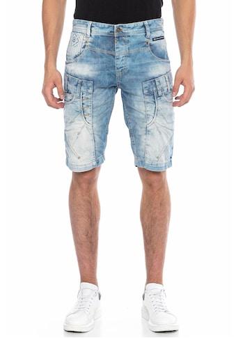 Cipo & Baxx Shorts, in markanter Waschung kaufen