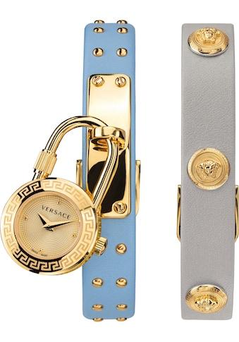 Versace Schweizer Uhr »Medusa Lock Icon, VEDW00419« (Set, 3 tlg., mit zusätzlichem Lederband) kaufen