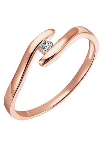 Firetti Diamantring »Solitär, ca. 1,76 mm breit, Spannfasung, Glanz, massiv«, mit Brillant kaufen