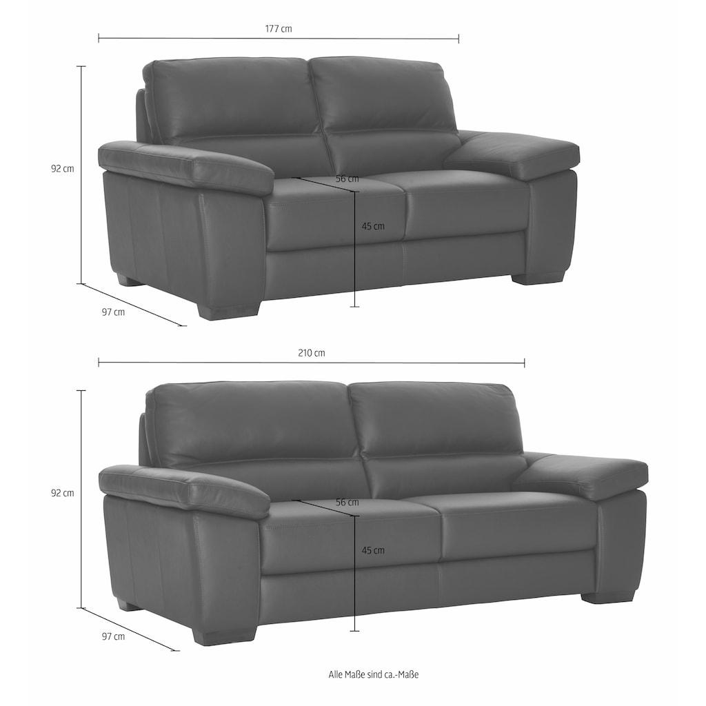 CALIA ITALIA Polstergarnitur »Gaia«, (Set, 2 tlg.), Ledersofa Garnitur bestehend aus 2-Sitzer und 3-Sitzer