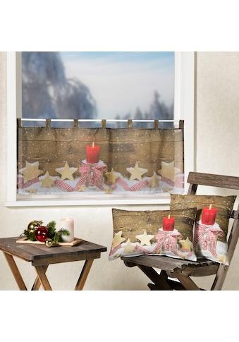 Weckbrodt Kissenhülle »Holzsterne«, (1 St.), Velour kaufen