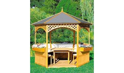 promadino Holzpavillon »Palma«, BxT: 326x326 cm, inkl. Brüstung kaufen