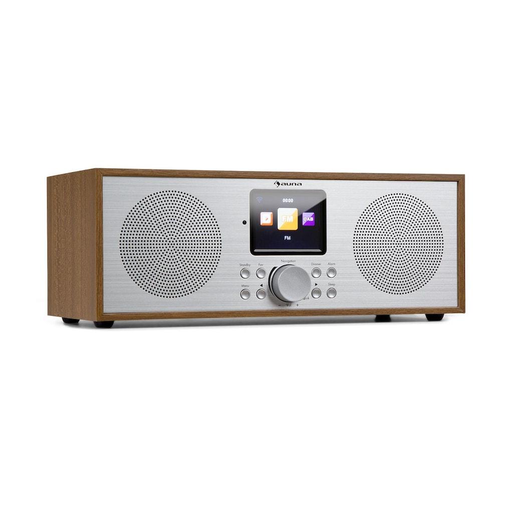 Auna Internet DAB+/UKW Radio WiFi BT Eiche »Silver Star Stereo«