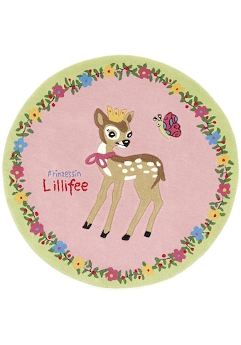 Prinzessin Lillifee Kinderteppich »LI-2935-01«, rund, 10 mm Höhe, Konturschnitt,... kaufen