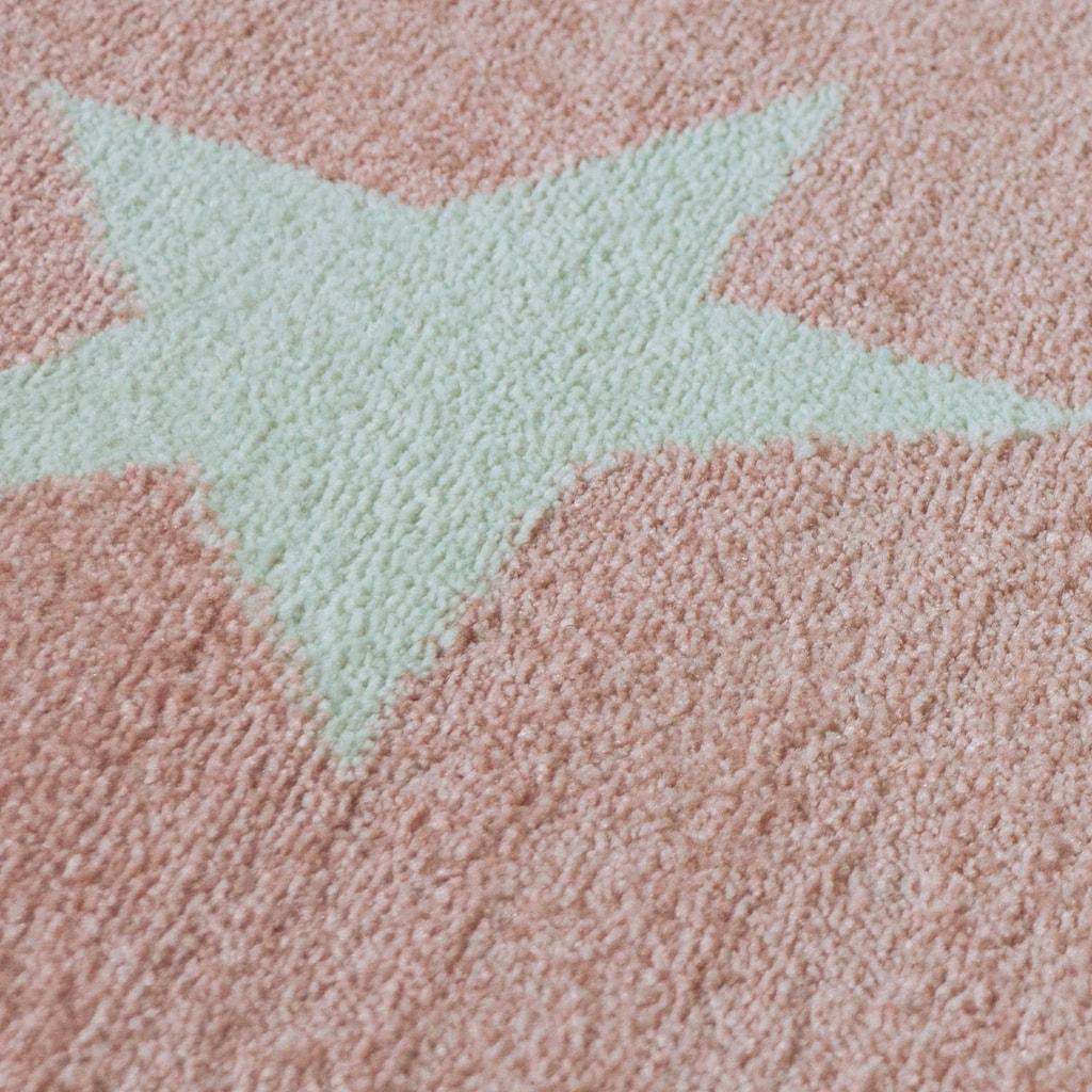 Lüttenhütt Teppich »Caprova 20«, rechteckig, 14 mm Höhe, mit Stern Motiv, Pastell-Farben