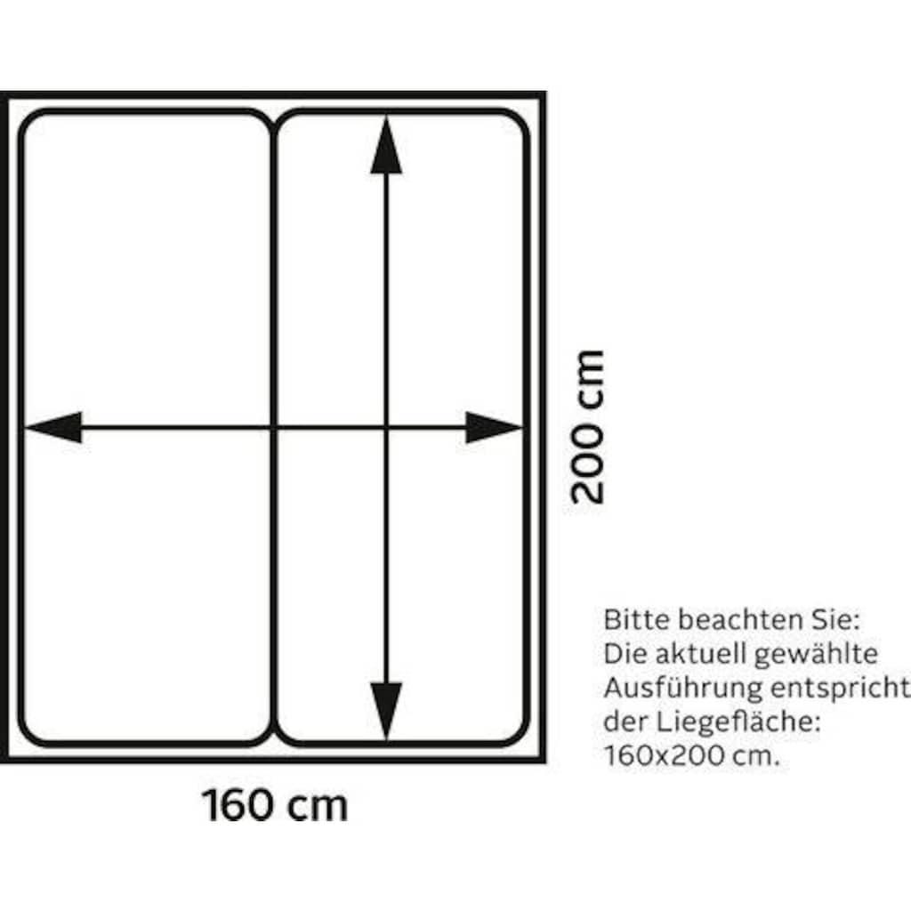DELAVITA Boxspringbett »Ascola«, incl. Topper, 5, Breiten, 3 Ausführungen, 2 Härtegrade