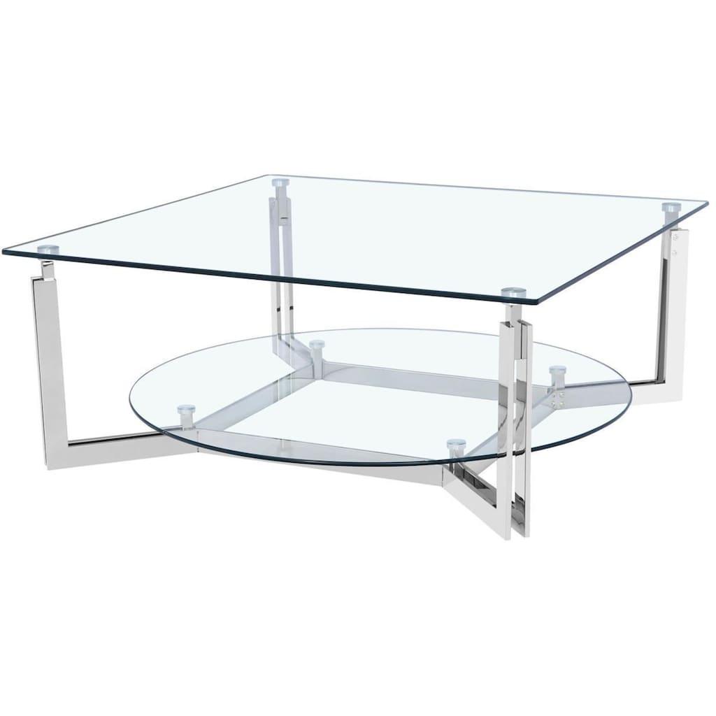 Leonique Couchtisch »Milano«, mit Glasplatte, Breite 100 cm