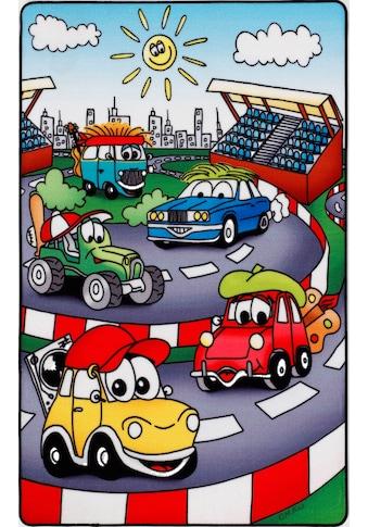 Böing Carpet Fußmatte »Lovely Kids LK-10«, rechteckig, 2 mm Höhe, Fussabstreifer, Fussabtreter, Schmutzfangläufer, Schmutzfangmatte, Schmutzfangteppich, Schmutzmatte, Türmatte, Türvorleger, Motiv Straße kaufen