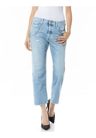 Replay Boyfriend-Jeans, Stretchqualität mit Destroyed-Effekten & Kettendetail kaufen
