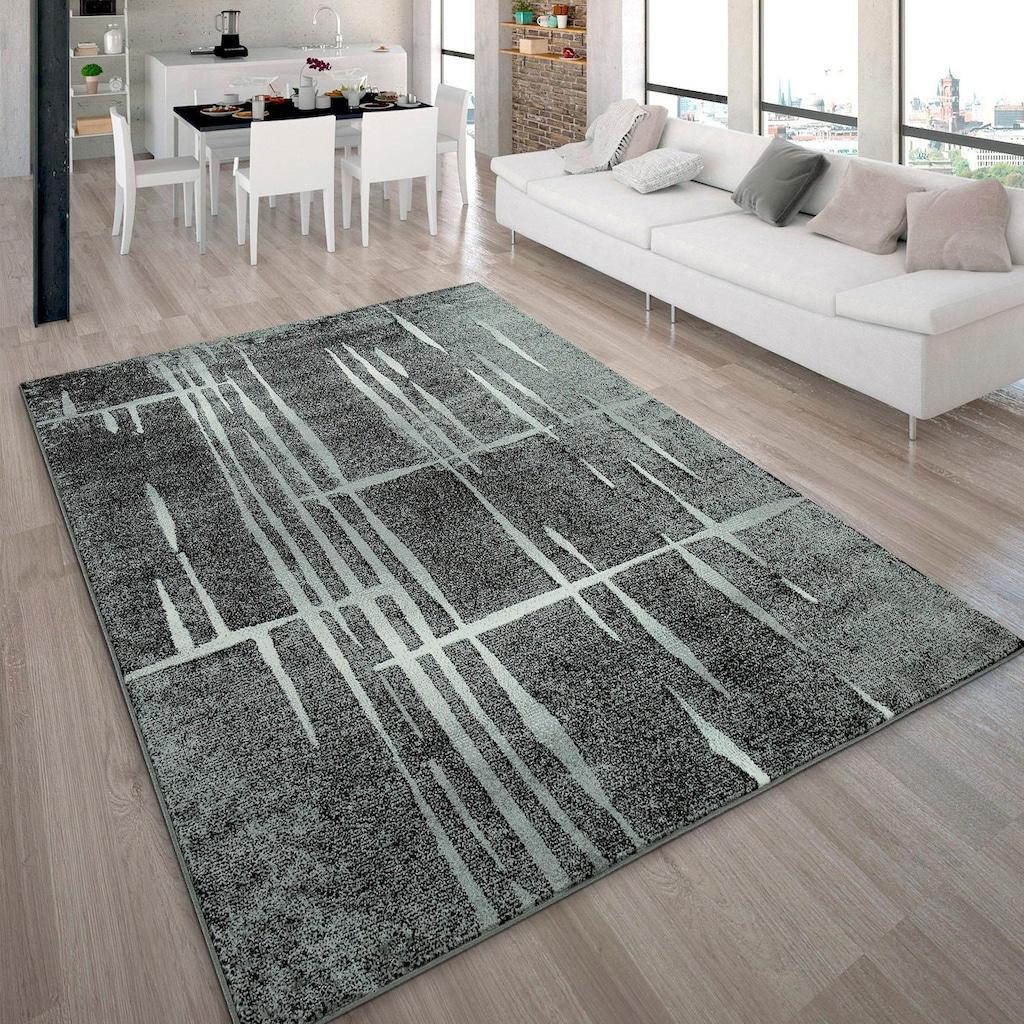 Paco Home Teppich »ECE 924«, rechteckig, 14 mm Höhe, Kurzflor, Matrix Design, Wohnzimmer