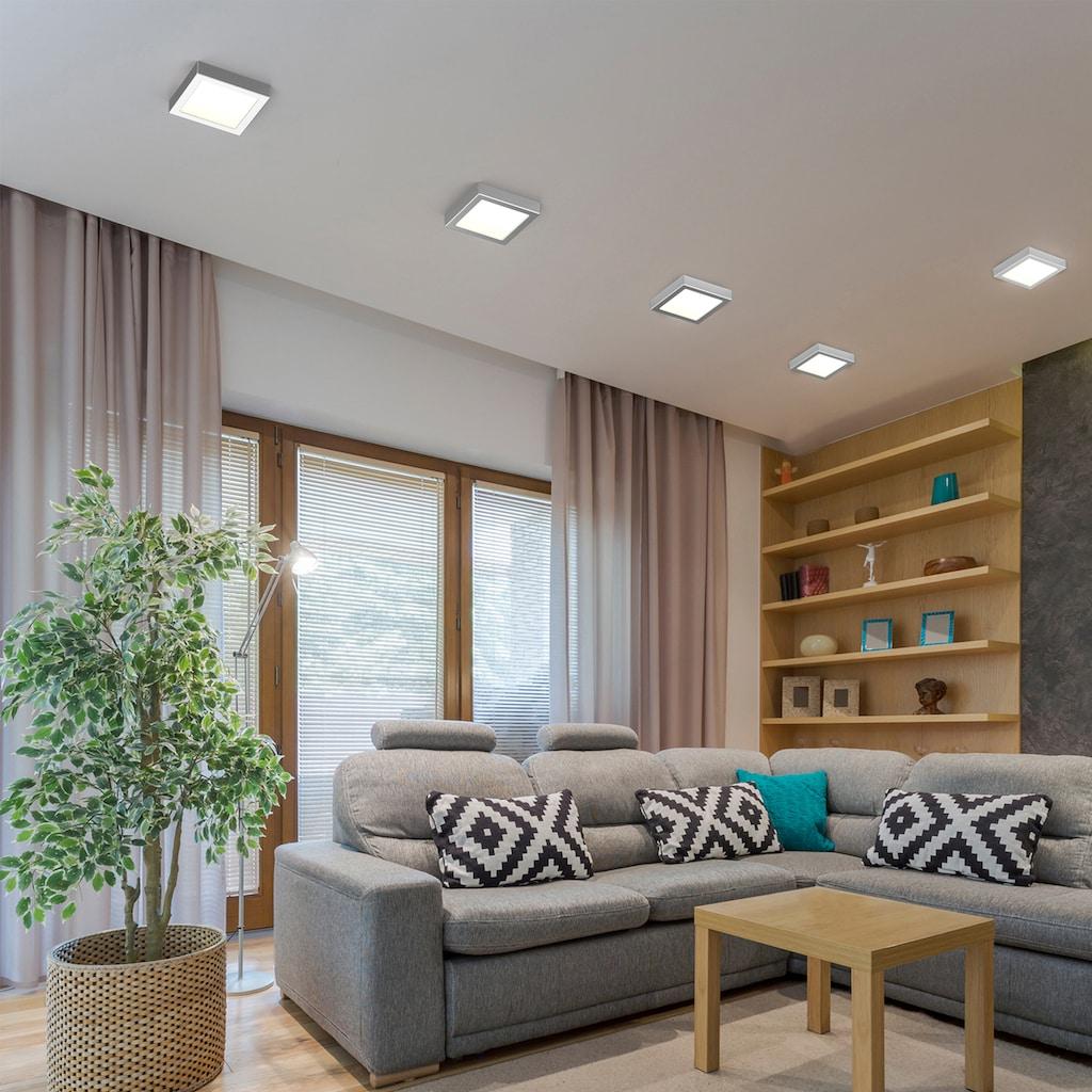 B.K.Licht LED Aufbaustrahler »Garnet«, LED-Board, Warmweiß, LED Unterbauleuchte Panel 12W Aufbauleuchte Lampe Aufputzspot