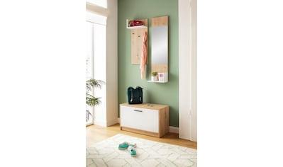 my home Garderoben-Set »Geo«, (3 tlg., Set mit Hakenplatte, Spiegel und Bank), 3tlg kaufen