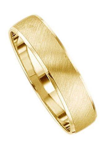 Firetti Trauring mit Gravur »5, 0 mm, gebürstet, Diamantschnitt«   Schmuck > Ringe > Ringe mit Gravur   Goldfarben   FIRETTI