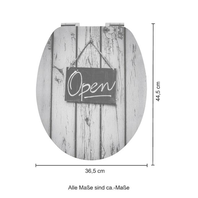 WC-Sitz »Open«, MDF Toilettensitz mit Absenkautomatik und Relief