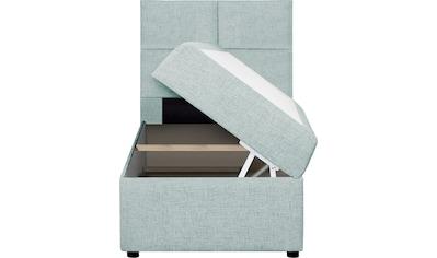 my home Polsterbett »Nela«, incl. Bonnell-Federkernmatratze in Breite 90 cm und 140 cm, incl. Topper und Stauraum kaufen