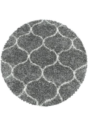 Ayyildiz Hochflor-Teppich »SALSA 3201«, rund, 50 mm Höhe kaufen