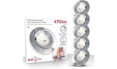 B.K.Licht LED Einbauleuchte, LED-Board, Warmweiß, LED Einbaustrahler dimmbar 3-stufig Wandschalter 5x 5,5W 470lm 3.000K schwenkbar ultra-Flach kaufen